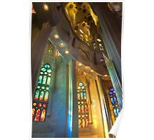 Stained Glass, Sagrada Familia Poster