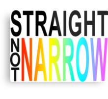 straight not narrow Metal Print