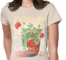 My Geranium would like to see you... Womens Fitted T-Shirt