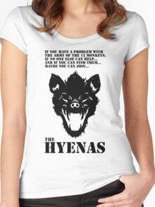 Join the Hyenas (black) Women's Fitted Scoop T-Shirt