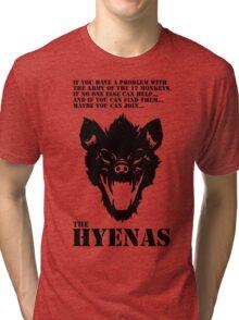 Join the Hyenas (black) Tri-blend T-Shirt