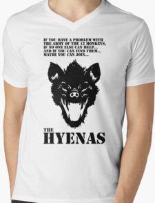 Join the Hyenas (black) Mens V-Neck T-Shirt