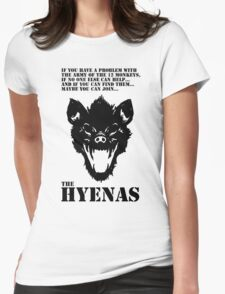 Join the Hyenas (black) Womens Fitted T-Shirt