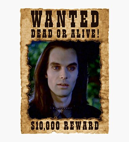 Buffy Dracula Wanted Photographic Print
