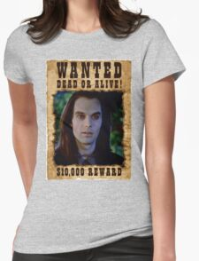 Buffy Dracula Wanted Womens Fitted T-Shirt