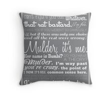 Dana Scully Quotes Throw Pillow