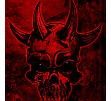 Evil Skull Photographic Print