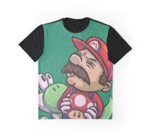 Hardcore Mario & his Homeboy Yoshi Graphic T-Shirt