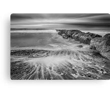 Monochrome ocean scene Canvas Print