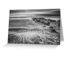 Monochrome ocean scene Greeting Card