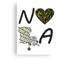 I heart NOLA (Black and Gold) Canvas Print