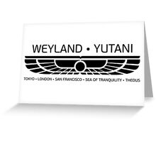 Weyland Yutani Greeting Card