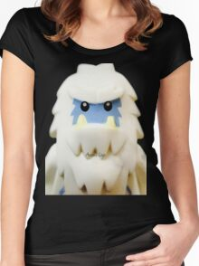 Lego Yeti minifigure Women's Fitted Scoop T-Shirt