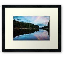 Entwistle Reservoir Sunset  Framed Print