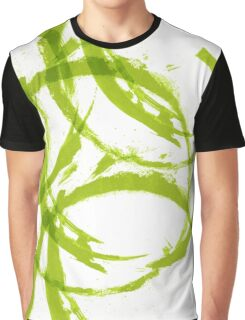 Green stain rings abstract background Graphic T-Shirt