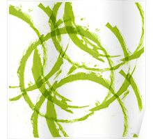 Green stain rings abstract background Poster
