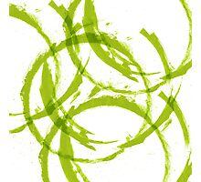 Green stain rings abstract background Photographic Print