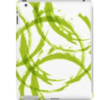 Green stain rings abstract background iPad Case/Skin