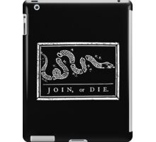 Join or Die - Black and White iPad Case/Skin