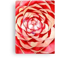 Pink Camellia abstract flower Canvas Print