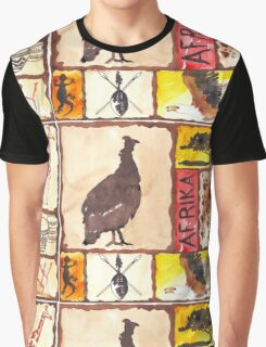 'n Afrika Collage en Bosvelddrome | An African Collage   Graphic T-Shirt
