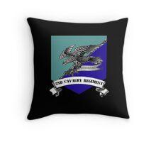 2nd Cavalry Regiment Shield Version Throw Pillow