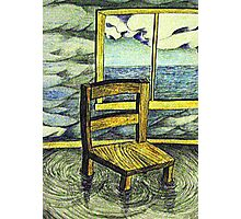 Solitary chair Photographic Print
