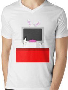 Rabbit Ears Mens V-Neck T-Shirt