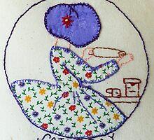 Thursday Purple Pie Baking Bonnet Lady by Urbanfringe
