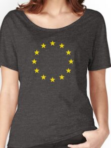EU stars, flag, symbol, states, wreath, banner, Women's Relaxed Fit T-Shirt