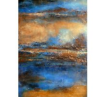 Fluid Acrylic Painting with Heavy Texture SKYRIM Photographic Print