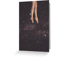 Hanging in space Greeting Card
