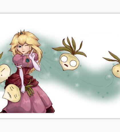 Princess Peach and turnips fanart Sticker