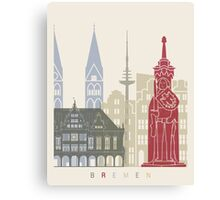 Bremen skyline poster Canvas Print