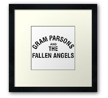 Gram Parsons and the Fallen Angels (black - distressed) Framed Print