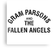 Gram Parsons and the Fallen Angels (black - distressed) Canvas Print