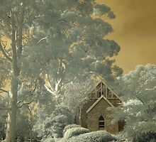 Old church in sepia by BigAndRed