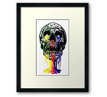 Heartless skull big Framed Print