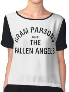 Gram Parsons and the Fallen Angels (black) Chiffon Top