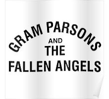Gram Parsons and the Fallen Angels (black) Poster