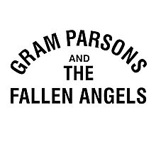 Gram Parsons and the Fallen Angels (black) Photographic Print