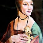 Lady with an Ermine after Leonardo da Vinci by Hidemi Tada