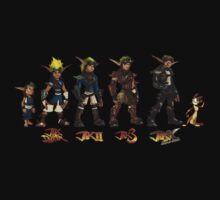 Jak and Daxter Saga - Full Colour Sketched Kids Clothes