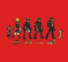 Jak and Daxter Saga - Full Colour Sketched Kids Tee