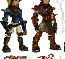 Jak and Daxter Saga - Full Colour Sketched Sticker