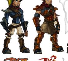 Jak and Daxter Saga - Full Colour Sketched Sticker