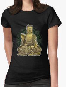 Buddha Statue Womens Fitted T-Shirt