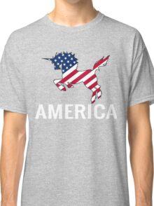 4th Of July Shirt - Unicorn Shirt Funny - American Flag Shirt Classic T-Shirt