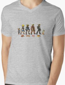 Jak and Daxter Saga - Simplified Colours Mens V-Neck T-Shirt