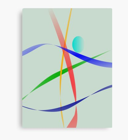 Warm Gray Simple Abstract Design Canvas Print